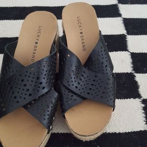 Lucky Brand Shoes - Lucky brand black wedge